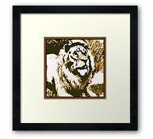 Strong Roar Framed Print