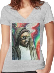 TRIPPY Women's Fitted V-Neck T-Shirt