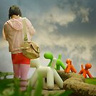 Walking the Colourful Dogs by Mick Kupresanin
