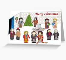 11 Doctors in the Tardis for Christmas Greeting Card