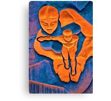 Woman Holding a Child in her Hands Canvas Print