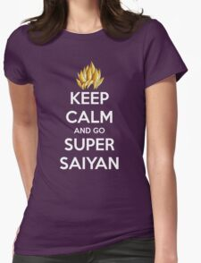 Keep Calm And Go Super Saiyan (Shirt & Stickers - Black) Womens T-Shirt