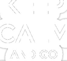 Keep Calm And Go Super Saiyan (Shirt & Stickers - Black) Sticker