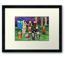 The Stargazing Doctors Framed Print