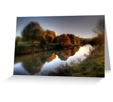 Autumn on the River Medway  Greeting Card