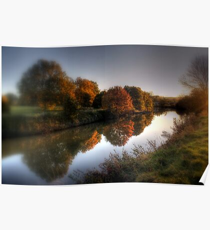 Autumn on the River Medway  Poster