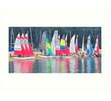Sails trails. Art Print