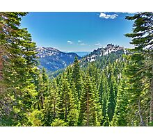 A view of a Hiker Photographic Print