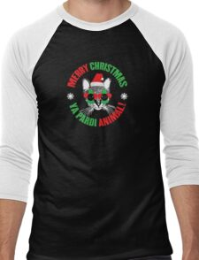 Merry Christmas Ya Pardi Animal Men's Baseball ¾ T-Shirt