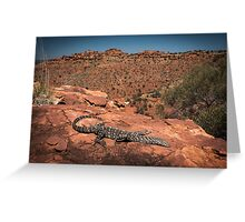 Perentie - Kings Canyon, NT Greeting Card
