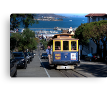 The Tram in San Francisco Canvas Print