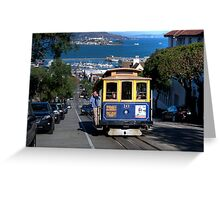 The Tram in San Francisco Greeting Card