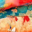Life Eternal Red And Green Abstract by Sharon Cummings