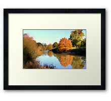 Autumn on the Medway Framed Print
