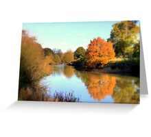 Autumn on the Medway Greeting Card