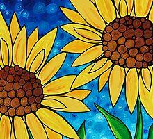 Yellow Sunflowers by Sharon Cummings
