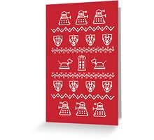 Timey Wimey Sweater Greeting Card
