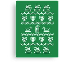 Timey Wimey Christmas (Green) Canvas Print