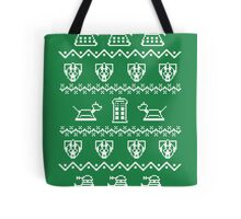 Timey Wimey Christmas (Green) Tote Bag