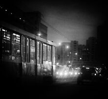 Trolleybus Pinhole Camera Abstract Print by NeonAbstracts