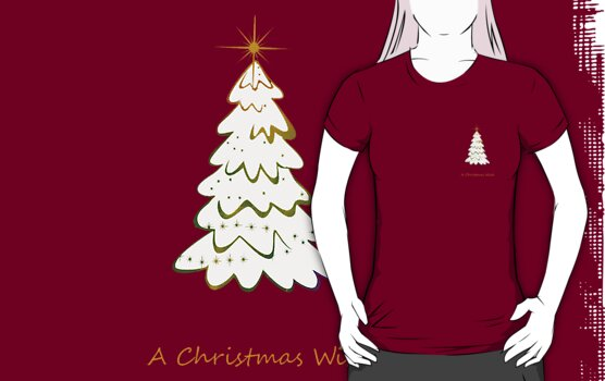 A Christmas Wish T-shirt by Vanessa Barklay