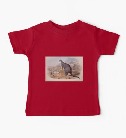 A monograph of the Macropodidæ or family of kangaroos John Gould 1842 005 Petrogale Robustus Baby Tee