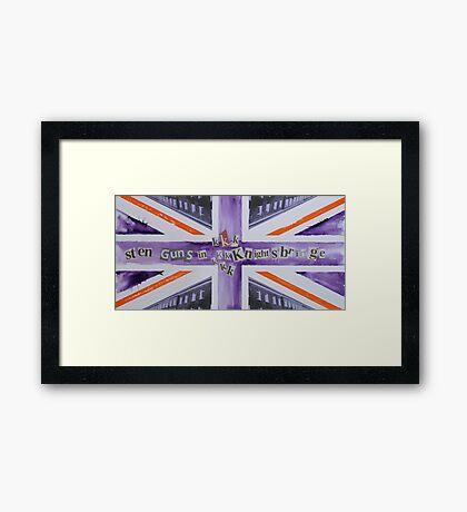 Sten Guns In Knightsbridge Framed Print