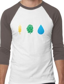 Basic ingredients for beer symbols Men's Baseball ¾ T-Shirt