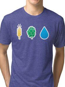 Basic ingredients for beer symbols Tri-blend T-Shirt