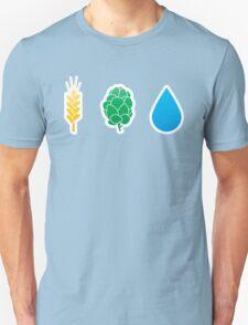 Basic ingredients for beer symbols T-Shirt