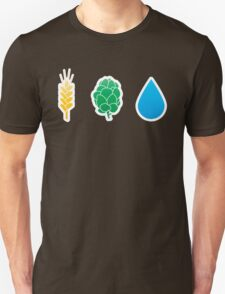 Basic ingredients for beer symbols T-Shirt