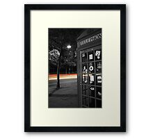 London Telephone Box Framed Print