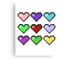 Retro Hearts Canvas Print