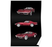 Candy Apple 1970 Corvette Poster