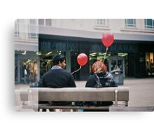 99 ÷ 3 ✕ 2 ÷ 3 ÷ 10 -0.2 = red balloons Canvas Print