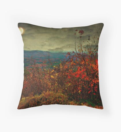 Moonlit hillside Throw Pillow