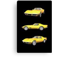 Yellow 1970 Corvette Canvas Print