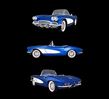 Blue 1961 Corvette C1 by bradyarnold