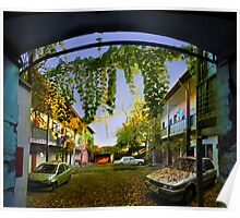 Autumn Courtyard Poster