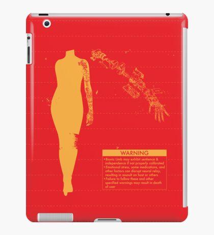 Bionic Arm Warning Shirt iPad Case/Skin