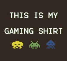 This is my gaming shirt (white on green) by nigredo92