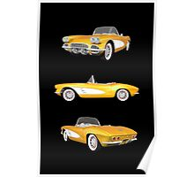 Yellow 1961 Corvette C1 Poster