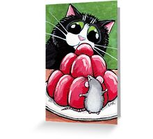 Hide & Seek Strawberry Jelly Greeting Card