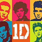 One Direction Pop Art Digital Portrait by David Alexander Elder