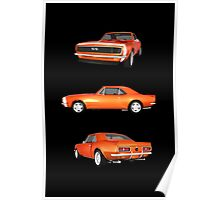 Orange 1967 Camaro SS Poster