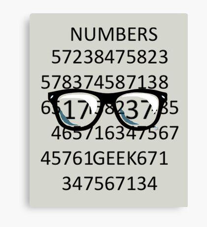 NUMBERS GEEK Canvas Print