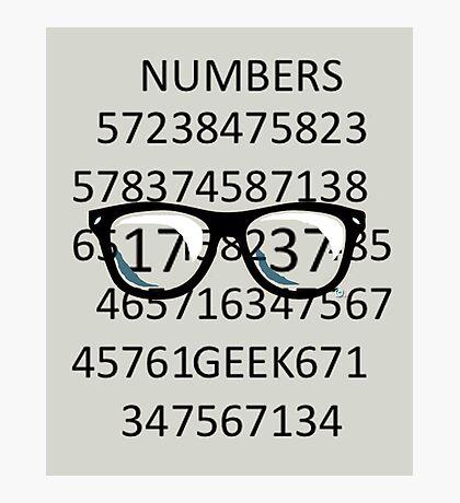NUMBERS GEEK Photographic Print