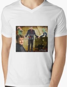 Nathan Fillion Mens V-Neck T-Shirt