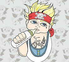 Tattooed Baby 004 - ipad case by TattooedBabies