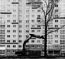Hitachi Digger Destroys a Tree by NeonAbstracts